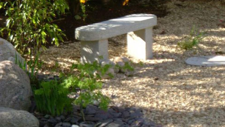 Japanese granite seat