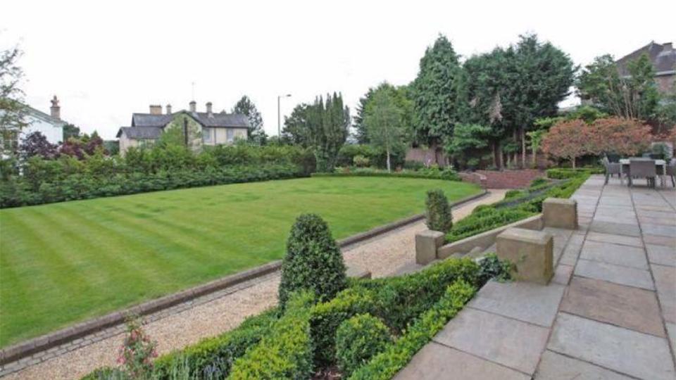 Formal rear garden